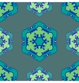 Blue seamless ethnic ornament vector image vector image