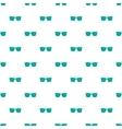 Blue sunglasses pattern cartoon style vector image
