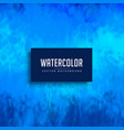 blue watercolor stain background texture vector image vector image