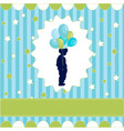 Boy with balloon blue wallpaper