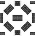 bricks icon seamless pattern on white background vector image
