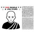 buddhist monk icon with bonus vector image vector image