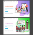 business training seminar people office workers vector image vector image