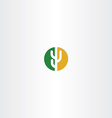 cactus circle desert icon logo vector image vector image