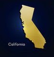 california map gold texture on blue background vector image