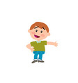 cartoon character boy showing vector image