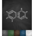 cell chemical formulas icon vector image vector image