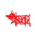 chinese zodiac sign year pig happy new year vector image vector image