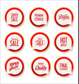 collection colorful modern badges and labels 5 vector image vector image