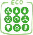 Collection of nine green eco-icons vector | Price: 1 Credit (USD $1)