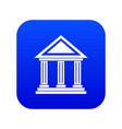 colonnade icon digital blue vector image vector image