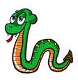 cute cartoon snake vector image vector image