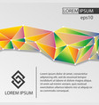 document template with abstract triangles vector image
