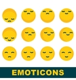 emoticons emotion icons vector image vector image