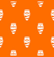 empty vase pattern seamless vector image vector image