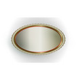 exquisite light oval frame vector image vector image