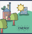 factory with solar energy and trees vector image vector image