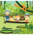 Family weekend Family on holiday in the jungle vector image vector image