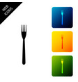 fork icon isolated on white background set icons vector image vector image