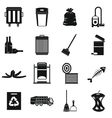Garbage thing icons set simple style vector image vector image