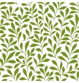 Green twigs with leaves seamless pattern vector image