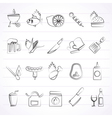 Grill and Barbecue Icons vector image vector image
