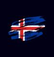 grunge textured icelander flag vector image vector image