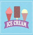 ice cream cartoon flat style vector image vector image