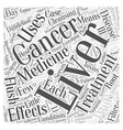 liver cancer Word Cloud Concept vector image vector image