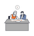 man and woman business conversation vector image vector image