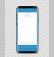 modern smartphone with messenger interface vector image