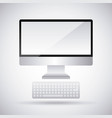 monitor computer keyboard device technology vector image vector image