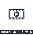 Movie icon flat vector image vector image