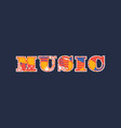 music concept word art vector image
