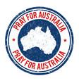 pray for australia sign or stamp