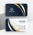 professional premium business card template design vector image vector image
