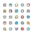 Real Estate Cool Icons 3 vector image vector image