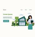 real estate landing page website ui mockup vector image