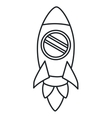rocket startup launcher isolated icon vector image vector image