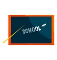 School blackboard icon cartoon style