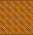 seamless geometric pattern brown circle abstract vector image