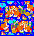 seamless pattern ornament kids clothes or toys vector image