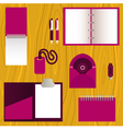Set of mock-up corporate identity objects vector image vector image