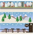 set of places for winter sports and vector image vector image