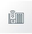 smart city icon line symbol premium quality vector image vector image