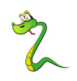 Snake in the form of number two vector image