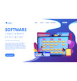 software requirement description concept landing vector image vector image