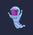 spaceman character in space suit astronaut flying vector image vector image