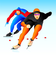 Speed skaters vector image vector image