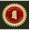 Star label Mississippi vector image vector image